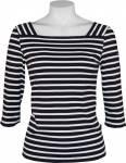 Saint James t-paita Tourlaville, Koko: 40, Väri: navy / valkoinen