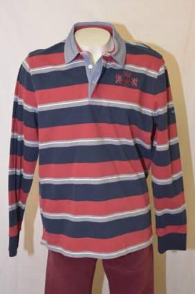 Saint James rugbypaita Bastien, Koko: XL, Väri: sininen / punainen / harmaa