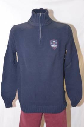 Sebago neule Sutton Half Zip, Koko: L, Väri: navy