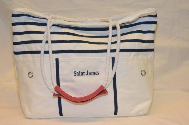 Saint James laukku Sac Plage, Väri: luonnon valkoinen / marine