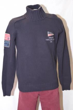 Sebago neule Buttoned Collar Pullover, Koko: M, Väri: navy