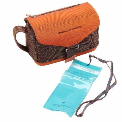 Piquadro Saniteettilaukku, Väri: ruskea-oranssi