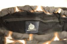 Marina Yachting Naisten laukku, musta-ruskea-valkoinen